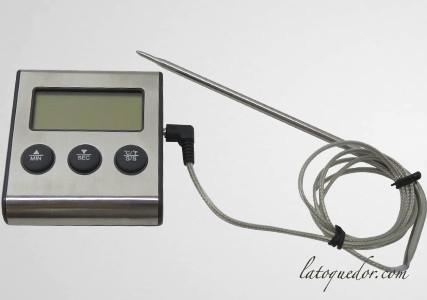 Thermomètre à four avec sonde et minuteur