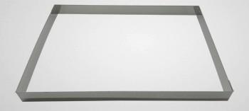 Cadre à pâtisserie inox rectangle H3 cm