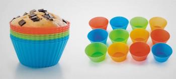 Moule à muffin et cupcake silicone