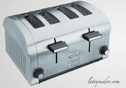 Grille pain inox Luxe 4 tranches