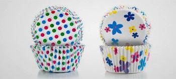 Caissette à pâtisserie et cupcake fleur et point