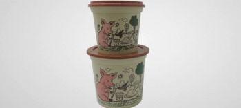 Pot à rillettes grès avec couvercle (x10)