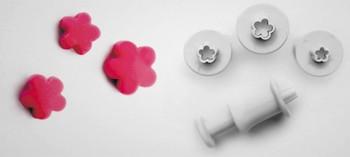 Découpoir fleur Blossom avec poussoir (x3)