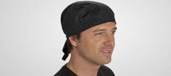 Toque pirate noire type bandana