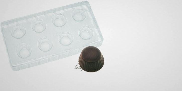 Moule à chocolat 8 tartelettes