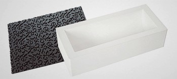 Moule à bûche silicone tapis arabesque