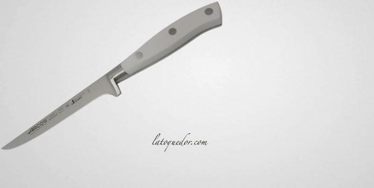 Couteau à désosser forgé Riviera manche blanc