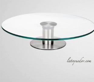 Présentoir à gâteau plateau verre