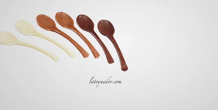 Moule cuillère en chocolat