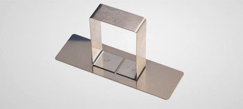 Poussoir rectangle inox