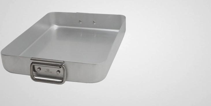 Plat à rôtir aluminium anses tombantes
