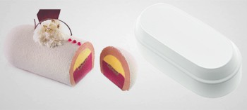Moule silicone ovale bombé Silikomart