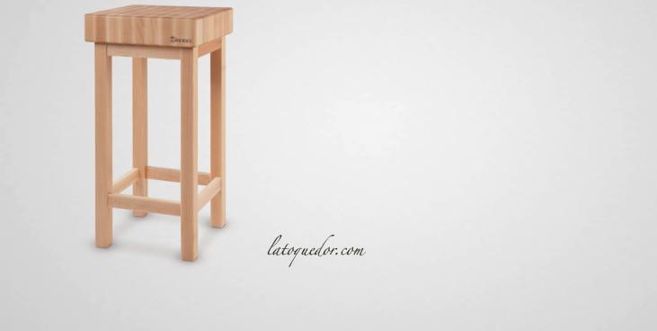 Billot de cuisine en bois sur pied